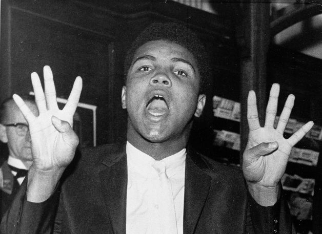 A young Ali was quite the entertainer