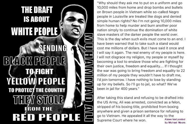The draft dodging accusations were detrimental to Ali's early career.  In the face of extreme public scrutiny he never backed down